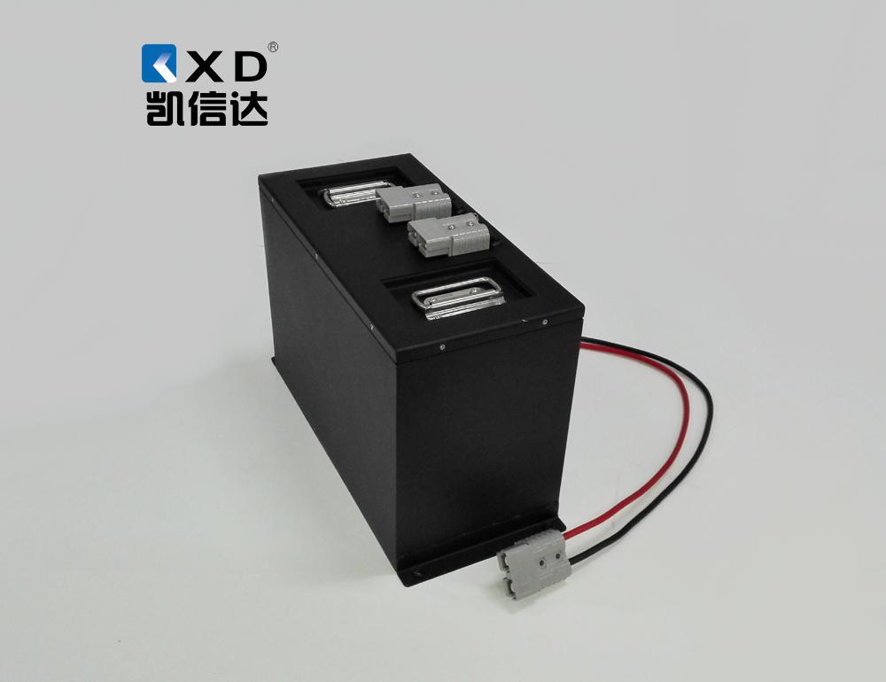 KXD-24V-200AH全电动堆高车 电动叉车磷酸铁锂电池